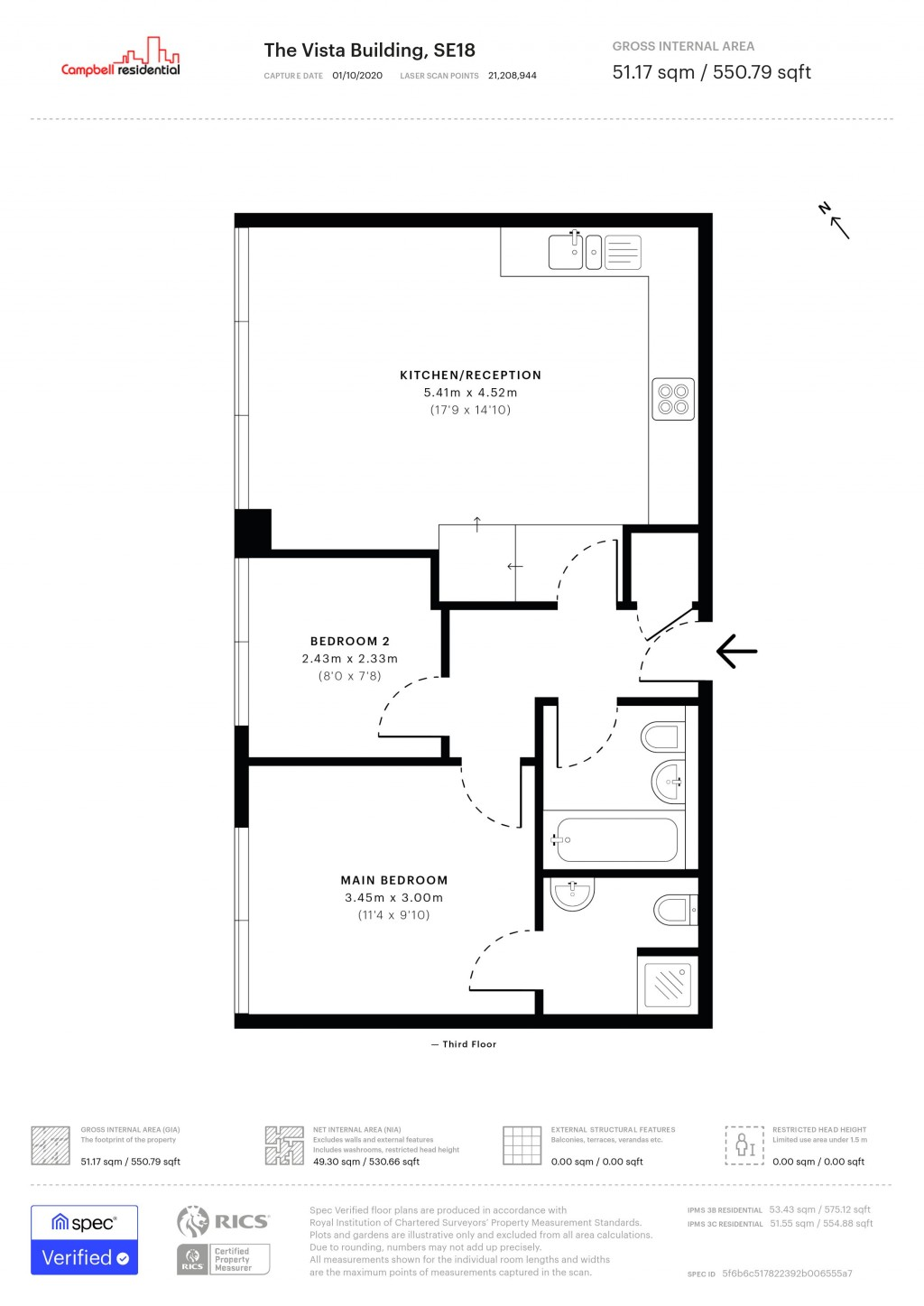 Floorplans For THE VISTA BUILDING 30 CALDERWOOD STREET SE18 6JF